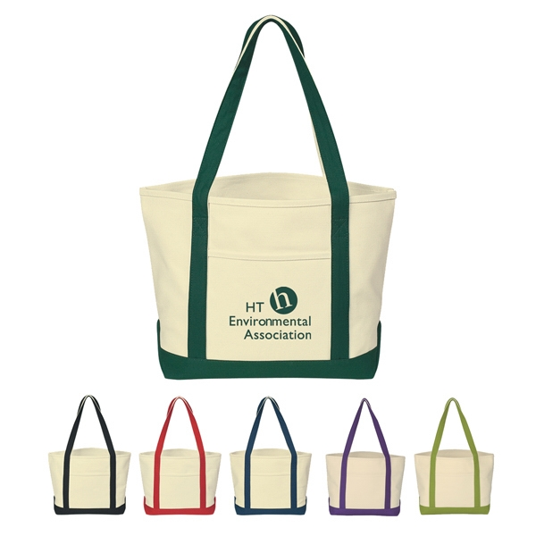 "Boat - Silkscreen - Tote Made Of 24 Oz. Canvas And 30"" Handles Photo"