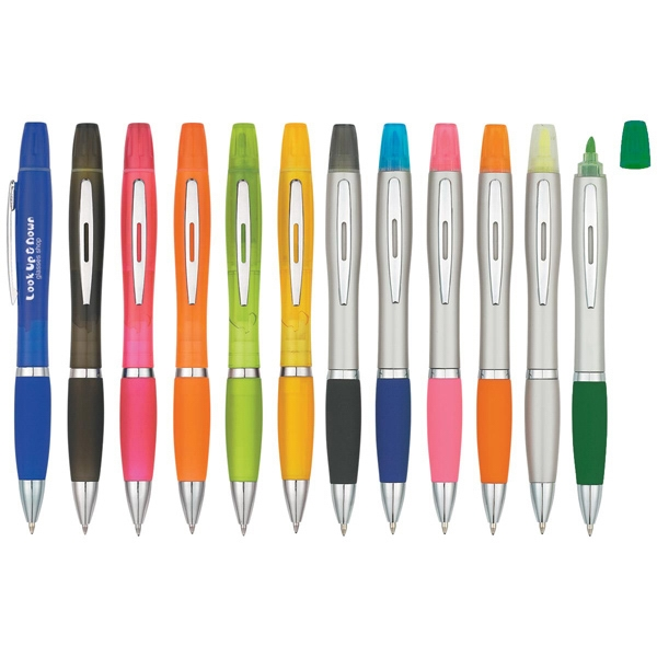 Twin Write - Sleek Design Highlighter With Ballpoint Pen Photo