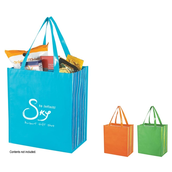 Shiny 80 Gram Laminated Non-woven Shopper Tote Bag Photo