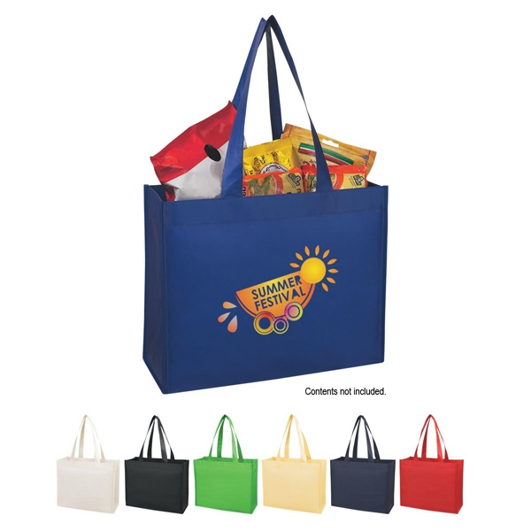 "Silkscreen - Matte Laminated Non-woven Shopper Tote Bag With 24"" Carrying Handles Photo"