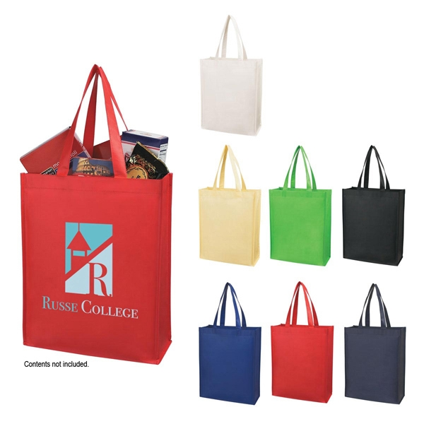"Matte 80 Gram Laminated Non-woven Shopper Tote Bag With 20"" Carrying Handles Photo"