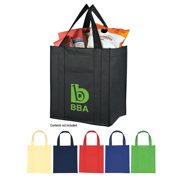 "Matte Laminated Non-woven Tote Bag, 10"" Gusset With Matching Covered Bottom Insert Photo"