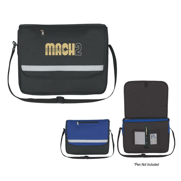 Non-woven Reflective Messenger Bag Photo