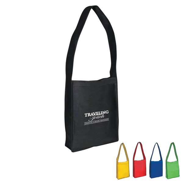 Non-woven Messenger Tote Bag With Velcro (r) Closure Photo