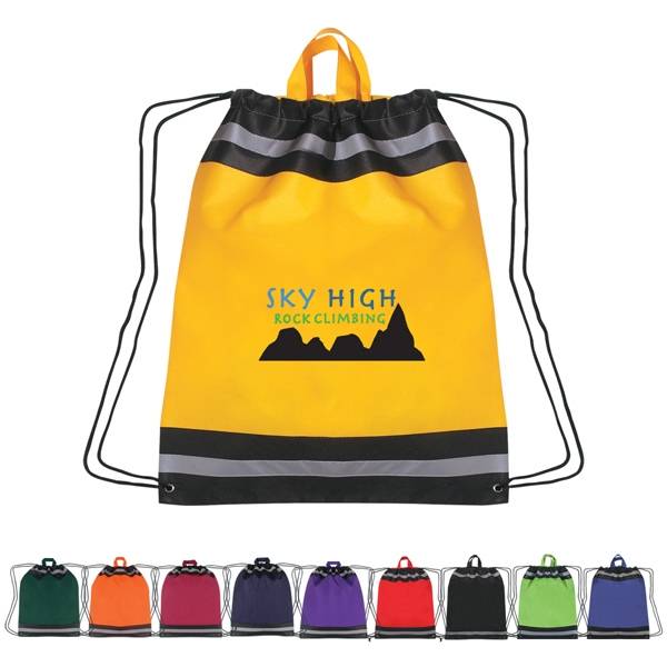 Drawstring Reflective Sports Pack With Carrying Handles Photo