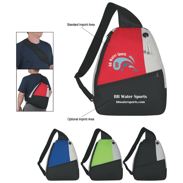 Embroidery - Sling Backpack With Inside Zippered Compartment Photo