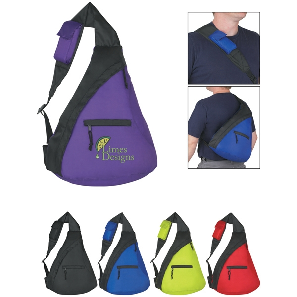 Budget - Sling Backpack Made Of 210 Denier Polyester With Front Zippered Pocket Photo