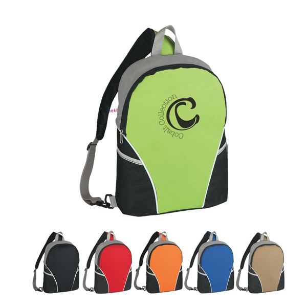Embroidery - Sling Backpack Made Of 600 Denier Polyester And 80 Gram Dobby Non Woven Photo