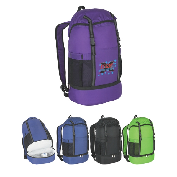 Budget - Sports Backpack Made Of 210 Denier Polyester With 2 Expandable Side Mesh Pockets Photo