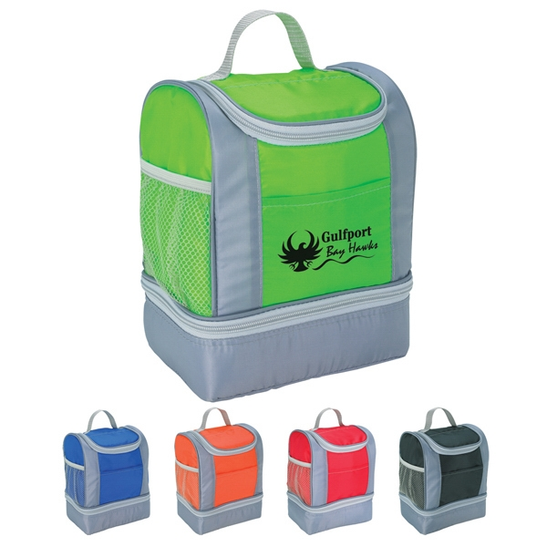 Two-tone Insulated Lunch Bag Made Of 210d Polyester Photo