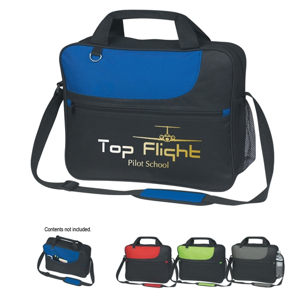 Embroidery - Polyester Sporty Messenger Bag With Large Outside Zippered Pocket Photo