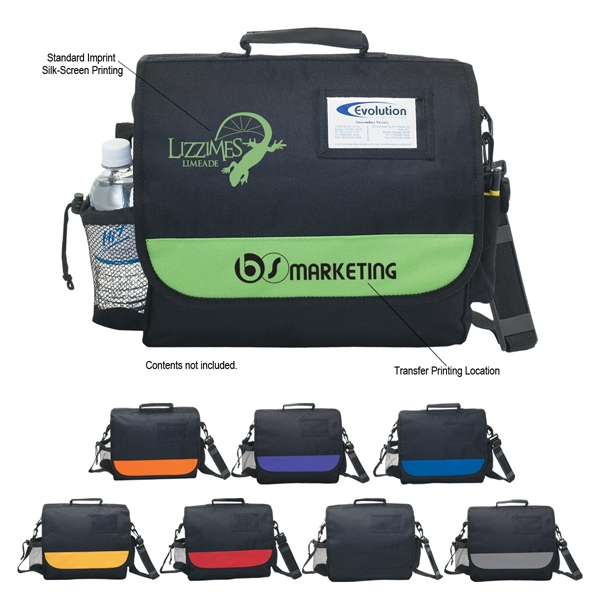 Silkscreen - Business Messenger Bag With Adjustable And Detachable Shoulder Strap Photo