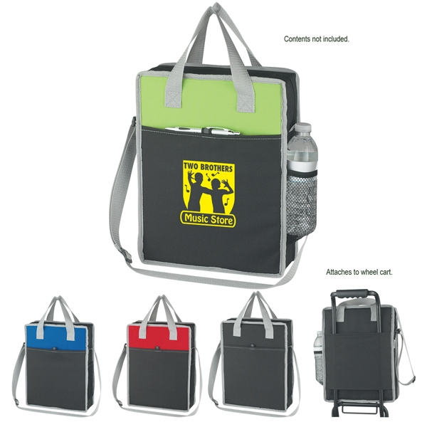 Vertical - Embroidery - Briefcase/tote Bag With Adjustable Shoulder Strap And Web Carrying Handles Photo