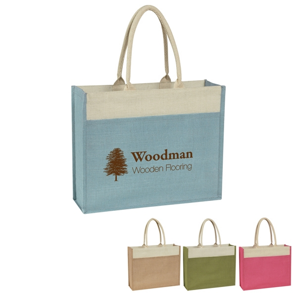 "Hitgreen (tm) - Tote Bag With Large Front Pocket And 22"" Padded Cotton Rope Handles Photo"