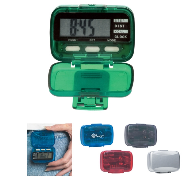 Translucent Colors - Multi Function Pedometer With Clock Photo