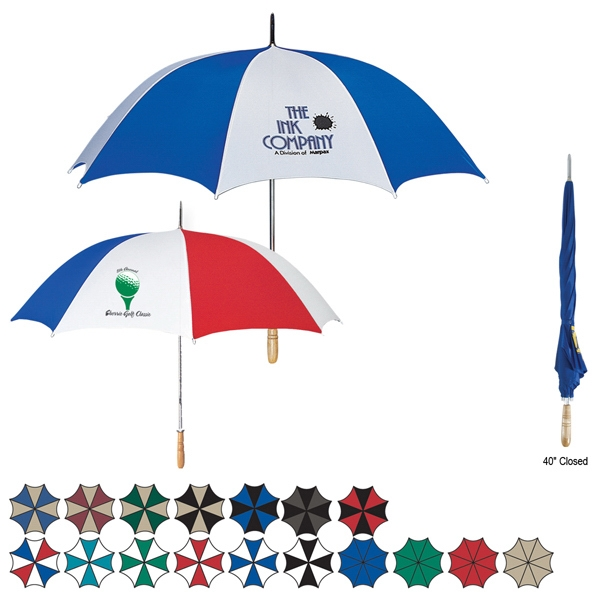 Golf Umbrella With Metal Shaft And Wood Handle Photo