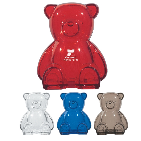 Plastic Bear Bank With Removable Bottom Plug For Coin Retrieval Photo