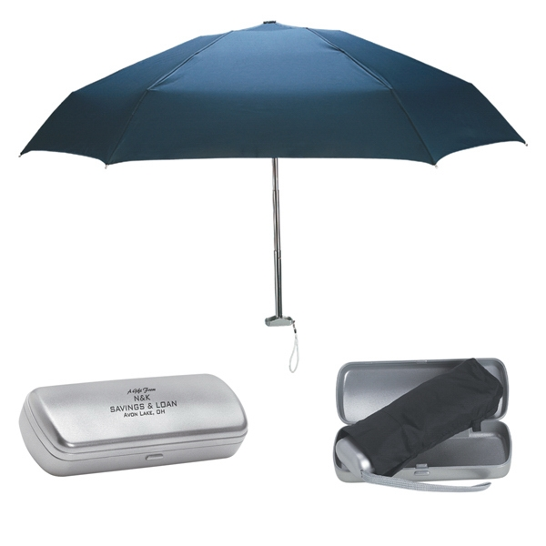 Folding Umbrella With Contemporary Design Case Photo