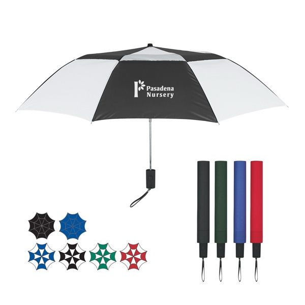 "44"" Arc Telescopic Folding Vented Umbrella Photo"