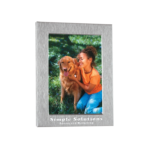 "Silver Photo Frame, 5 1/2"" X 7 1/2"", Holds 4"" X 6"" Photo Photo"