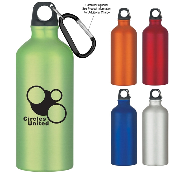 20 Oz. Aluminum Bike Bottle With Split Ring And Lid Photo