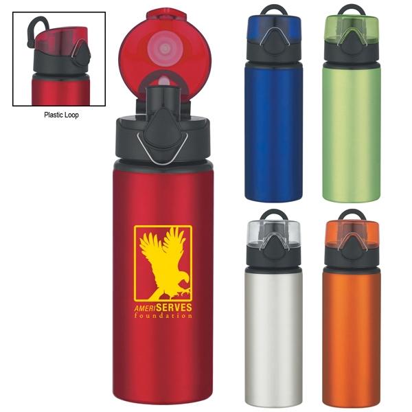 25 oz. Aluminum Sport Bottle with Flip Top Lid