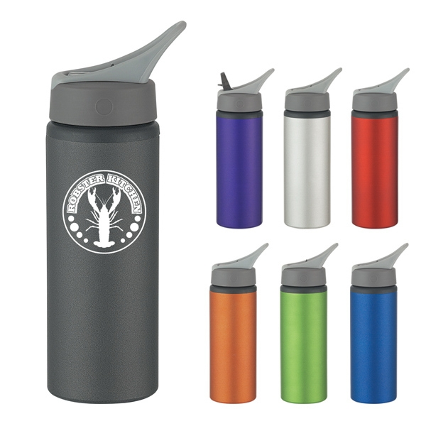25 Oz. Aluminum Bike Bottle With Screw On, Spill-resistant Sip Top Lid Photo