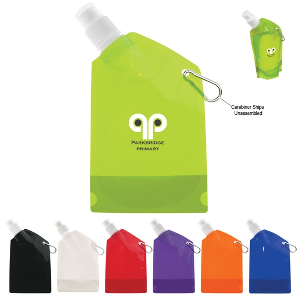 12 Oz. Collapsible Bottle With Leak-resistant Push Pull Lid And Carabiner Photo
