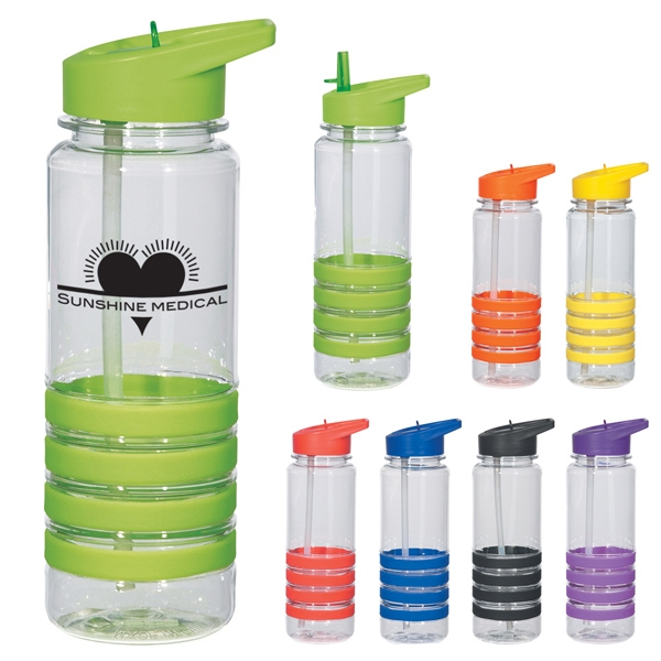 24 Oz. Bottle With Straw. Bpa Free And Meets Fda Requirements Photo