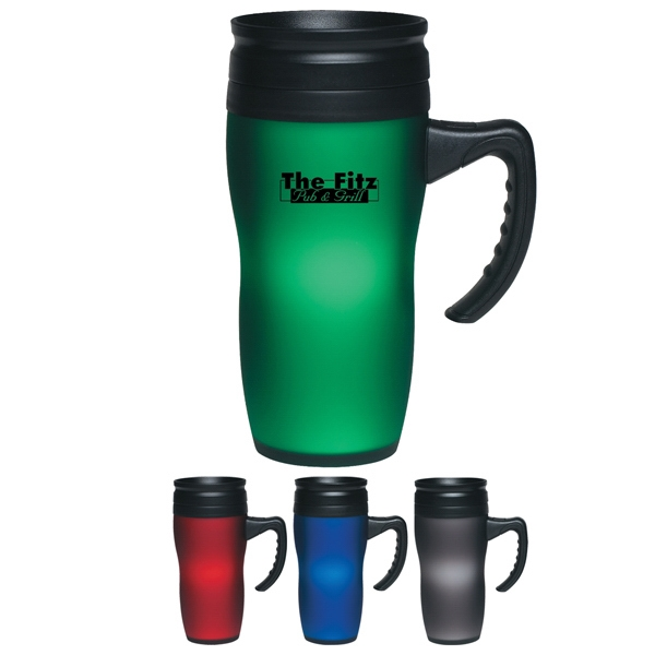 Soft Touch - Mug, 16 Oz., With Easy Grip Handle, Non-splash Screw On , Spill Resistant Lid Photo