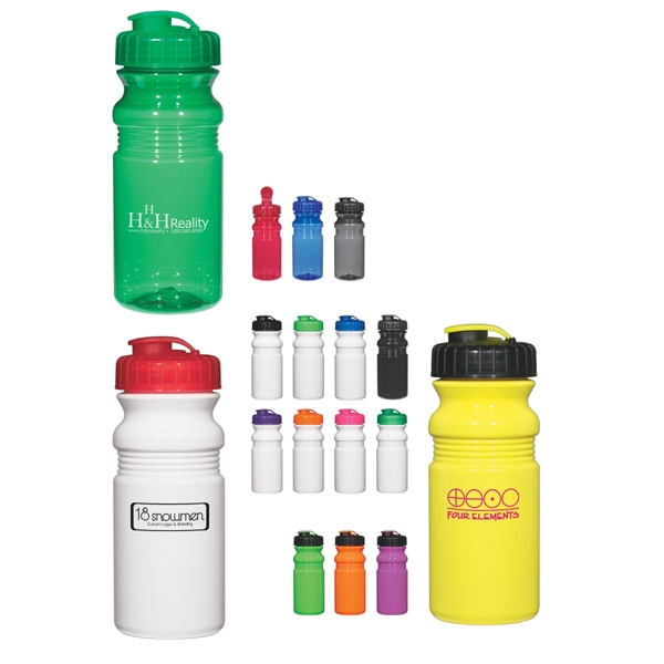 Hitgreen (tm) Poly-clear (tm) - Poly-clear (tm) Fitness Bottle With Super Sipper Lid, 20 Oz Photo