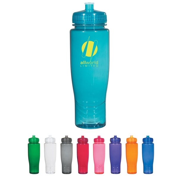 Hitgreen (tm) Poly-clean (tm) - Plastic Bottle With Leak Resistant Push Pull Lid, 28 Oz Photo