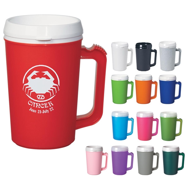 Thermo - 22 Oz Insulated Mug With Drink Through Lid Photo