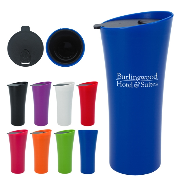Chic - 18 Oz. Tumbler With Spill-resistant Thumb Slide Lid Photo