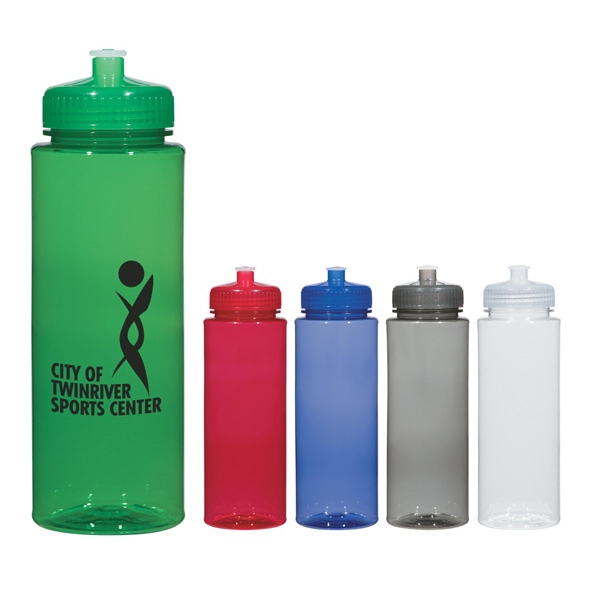 32 oz. Hydroclean (TM) Sports Bottle With Push/Pull Lid