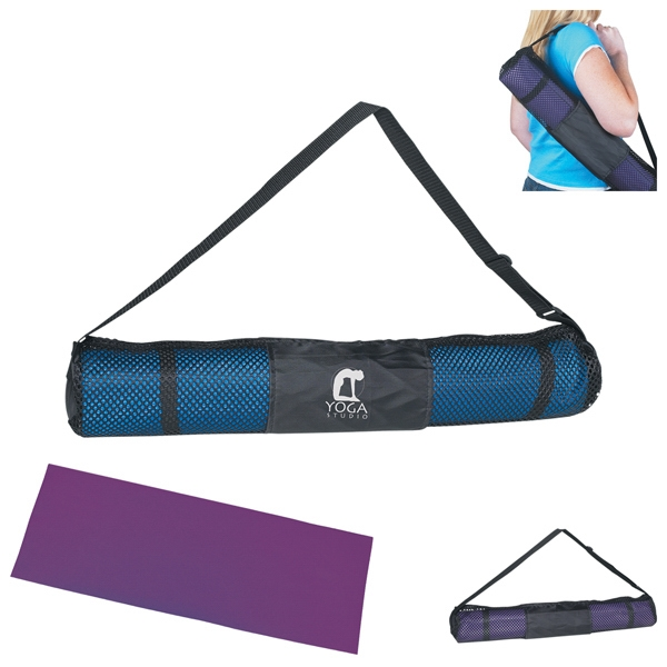 Yoga Mat And Carrying Case, Offers Excellent Traction Photo