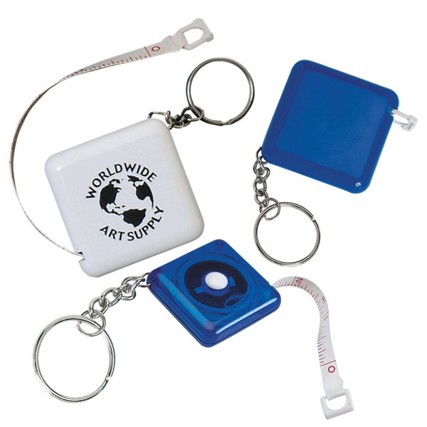 "Tape-a-matic - Key Tag With 40"" Cloth Tape Measure, Metric And Inch Scale Photo"