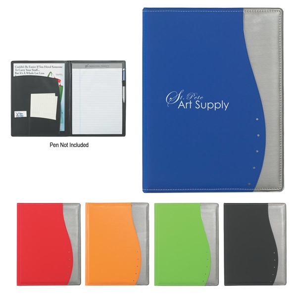 Wave - Portfolio With Writing Pad And Inside Pocket With 2 Additional Pockets Photo