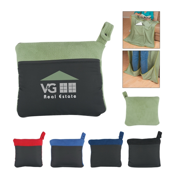 Embroidery - Polyester Blanket With Feet Warming Compartments Photo