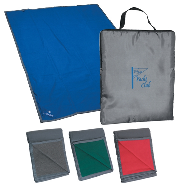 Embroidery - Reversible Fleece/nylon Blanket With Carry Case Photo
