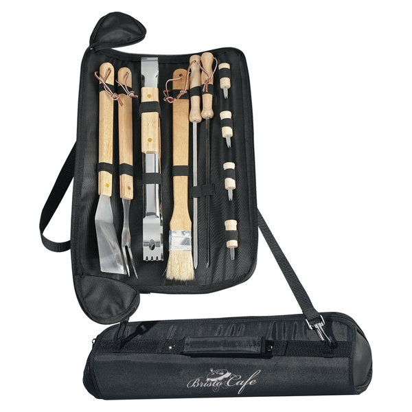 Barbecue Set With Shoulder Strap And Handle Photo