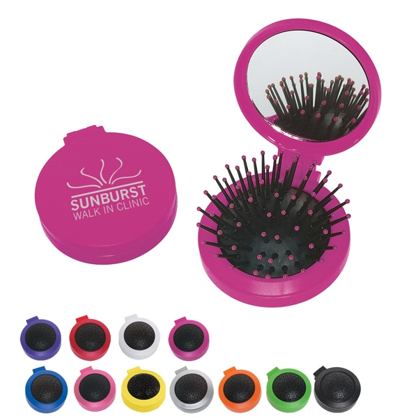 2 In 1 - Colors - Two In One Kit, Features A Brush And Shatter Resistant Mirror Photo