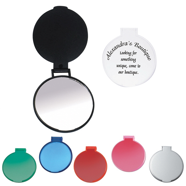 "Round Compact Mirror, 2 1/4"" Diameter Photo"