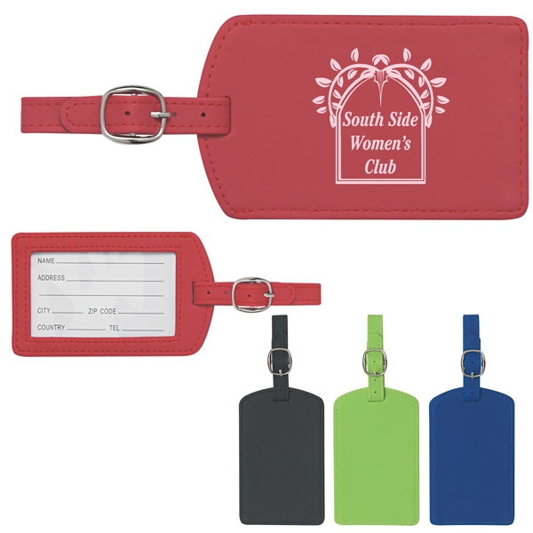 Luggage Tag With Adjustable Strap And Id Card Photo