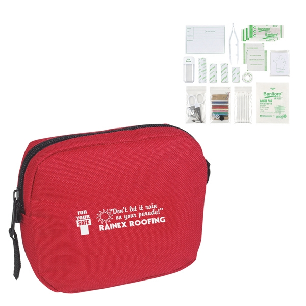 First Aid Kit In A Zippered Case With Belt Loop Attachment Photo