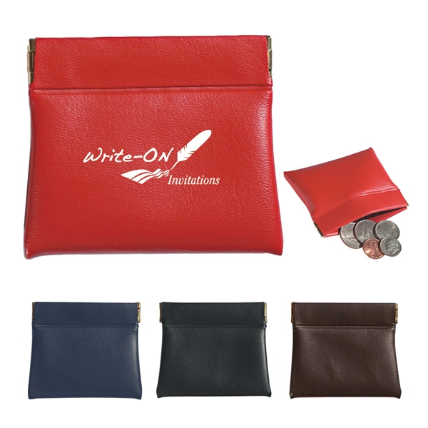Coin Pouch With Hinged Sides For Firm Closure Photo