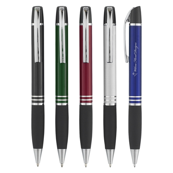 Navigator (tm) - Aluminum Twist Action Pen With Rubber Grip Photo
