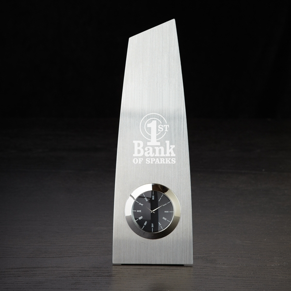 Metal Trophy Clock Photo