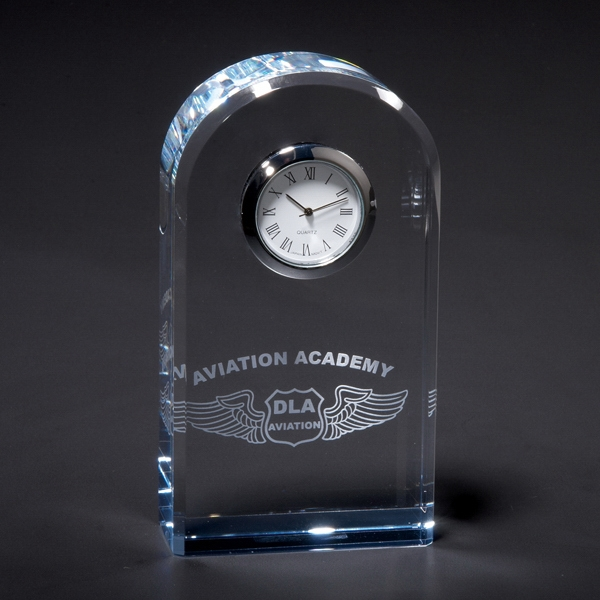 Serenity - Optically Perfect Crystal Desk Clock. Closeout Photo