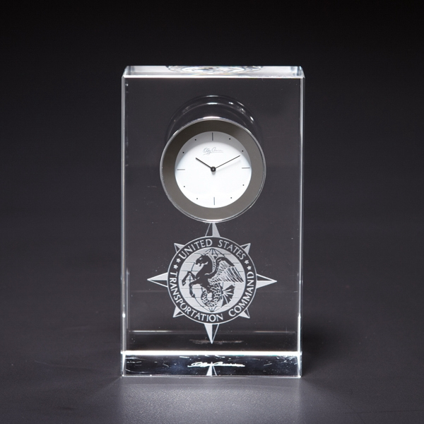Steadfast - Crystal Desk Clock Photo